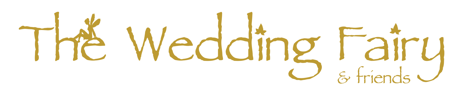 The Wedding Fairy and Friends logo - Gold